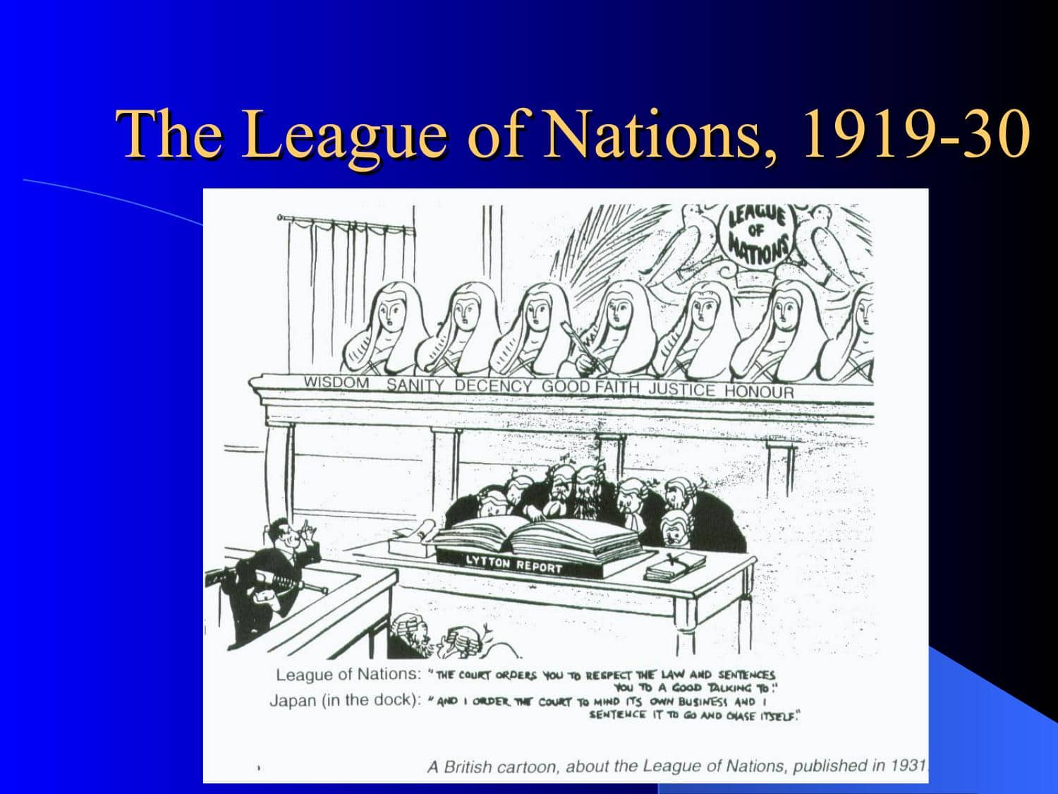 Why Were The League Of Nations Introduced | Powerpoint Lesson
