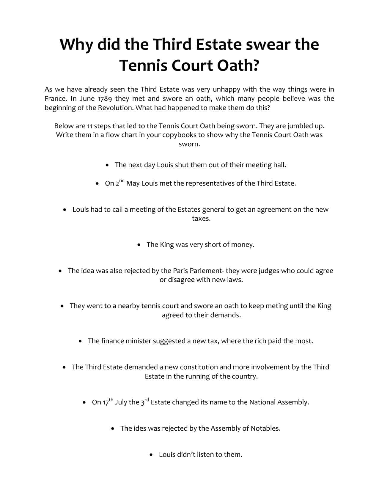 Third Estate Tennis Court Oath Ks3 Worksheet Flow Chart Task. Download Third Estate Tennis Court Oath Flow Chart Task. Wiring. 1789 Estates General Diagram At Scoala.co