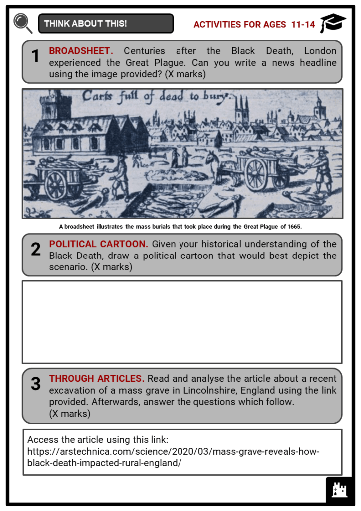 The Black Death Student Activities & Answer Guide 1