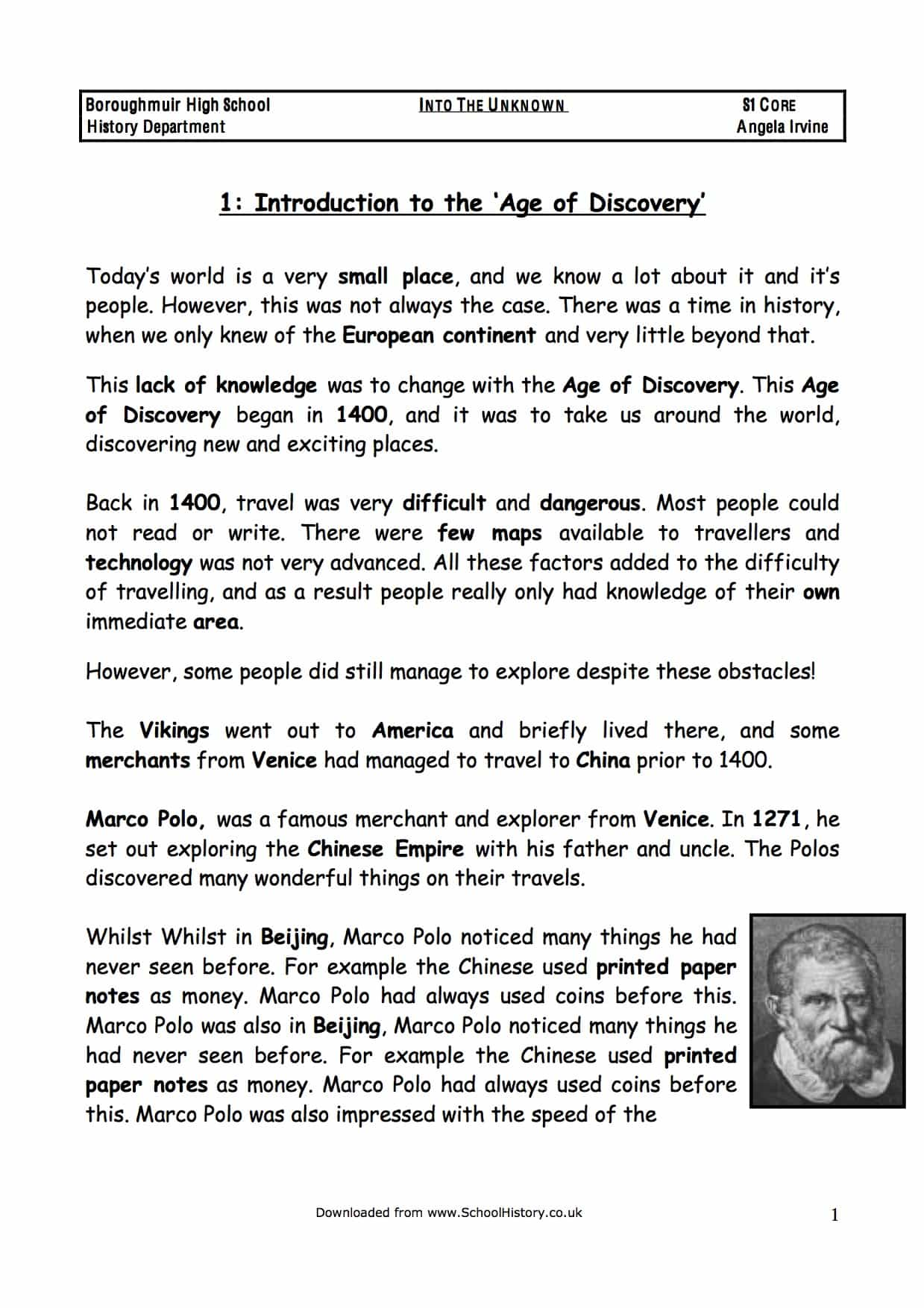 Download The Age of Discovery & Exploration