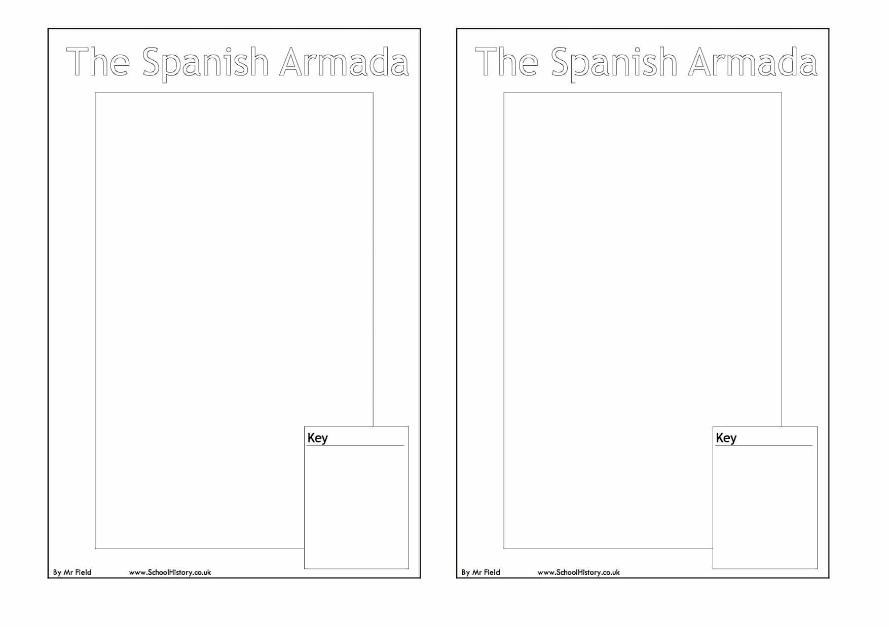 spanish armada map worksheet free blank map pdf. Black Bedroom Furniture Sets. Home Design Ideas