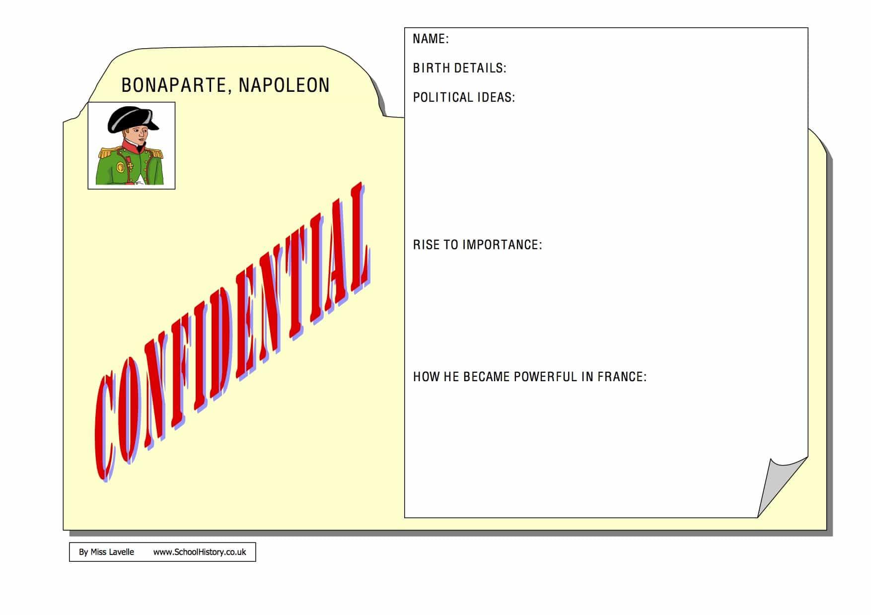 Napoleon Bonaparte Fact File - Free PDF Worksheet