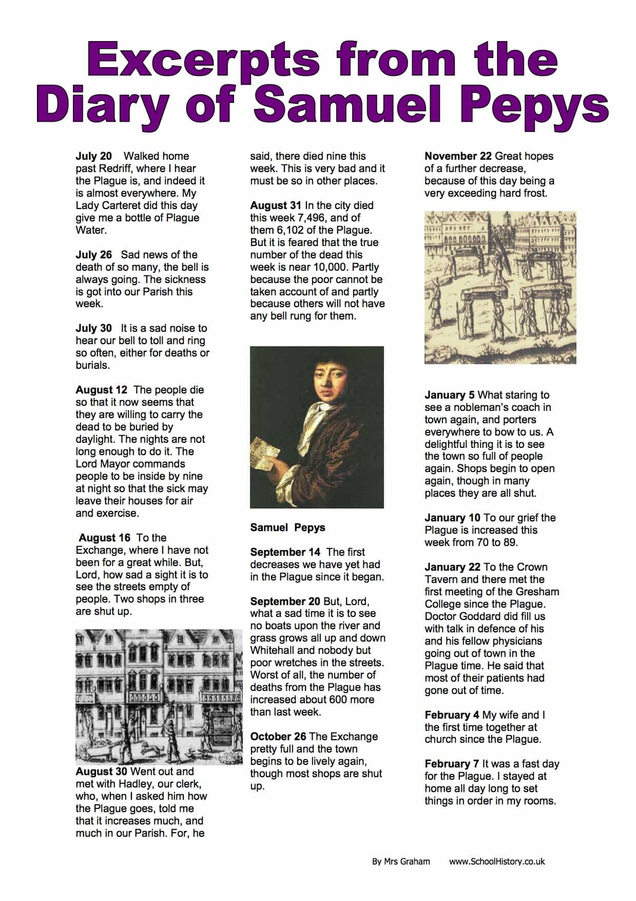 Excerpts from the Diary of Samuel Pepys | History Resources