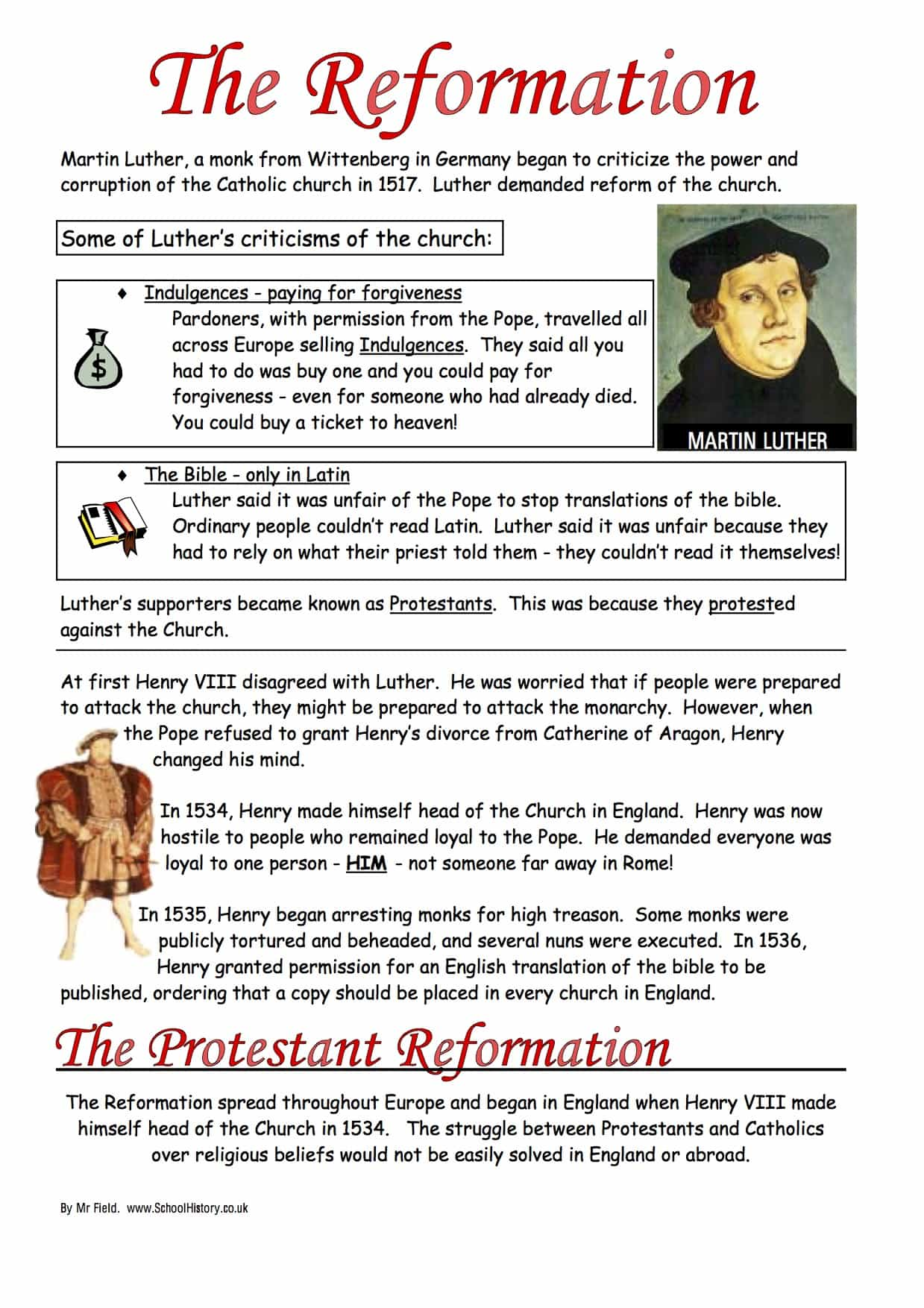 the protestant reformation worksheet year 8 study guide. Black Bedroom Furniture Sets. Home Design Ideas