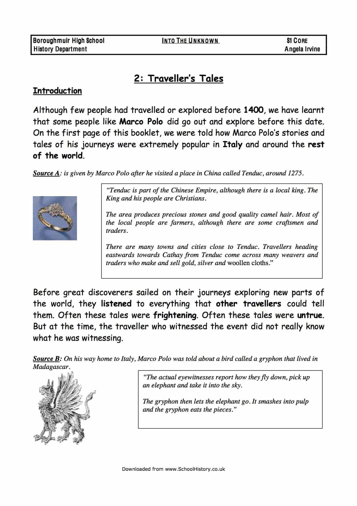 History Worksheets & Lesson Plans - schoolhistory.co.uk