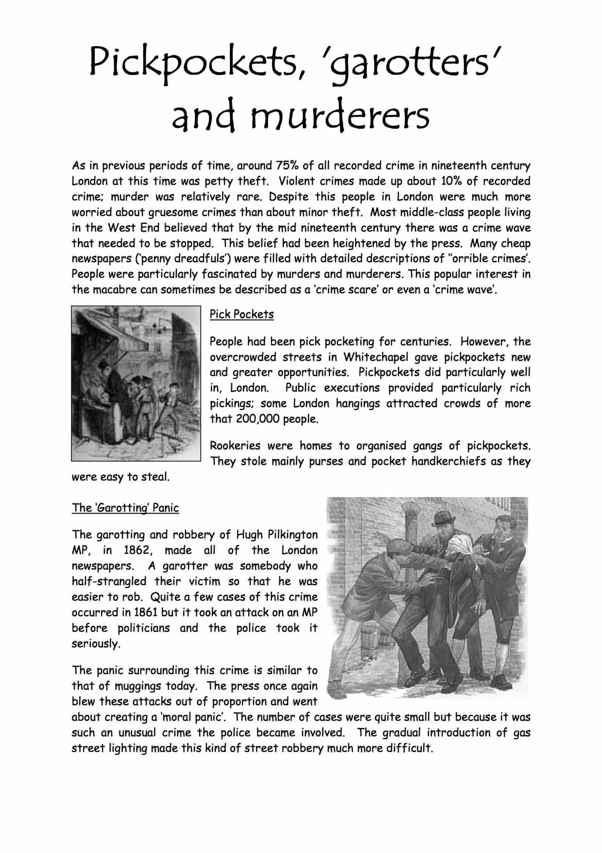 Types Of Crime In The Nineteenth Century Facts Information