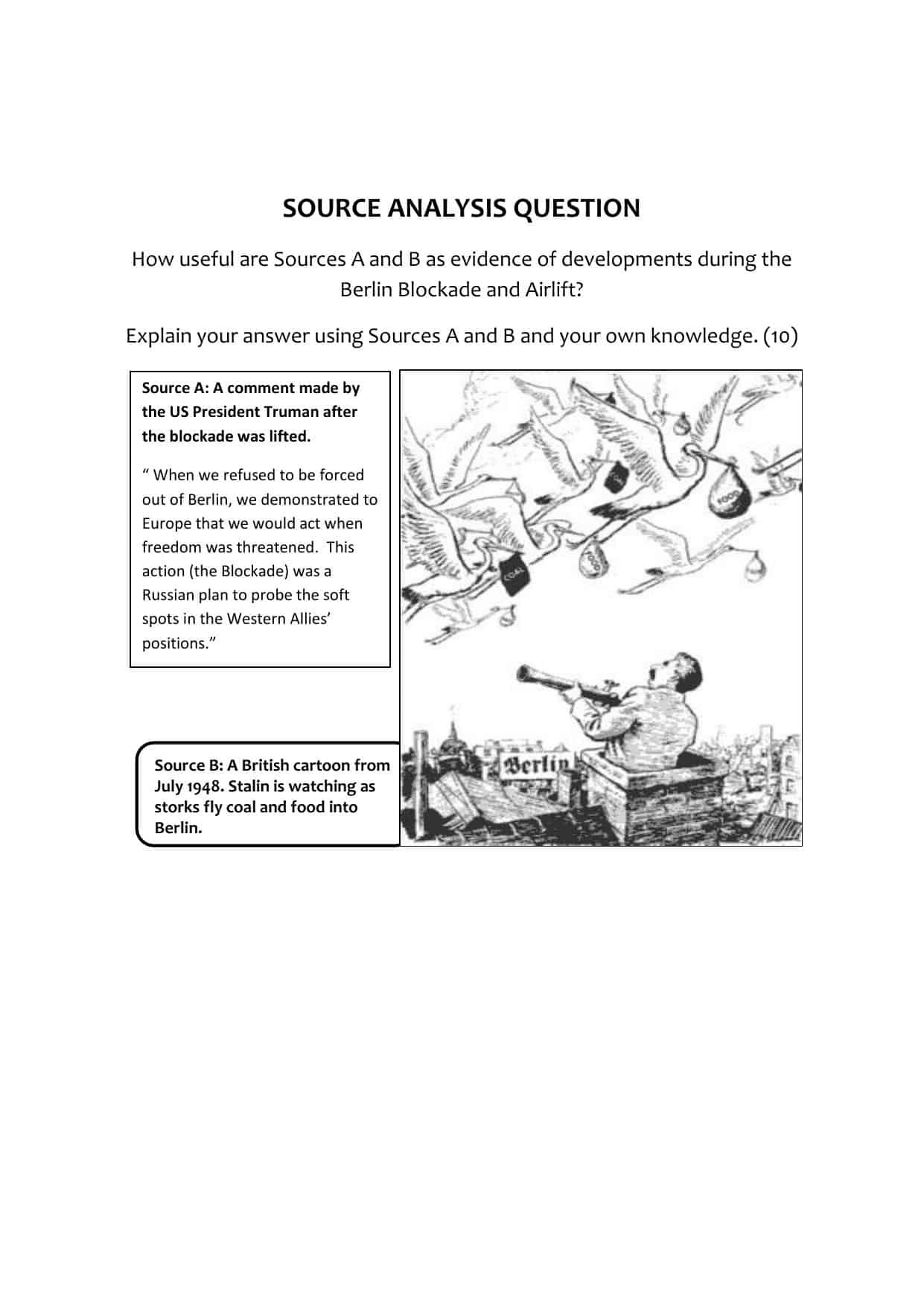 Victorian Home Library: GCSE History Source Analysis Question Worksheet