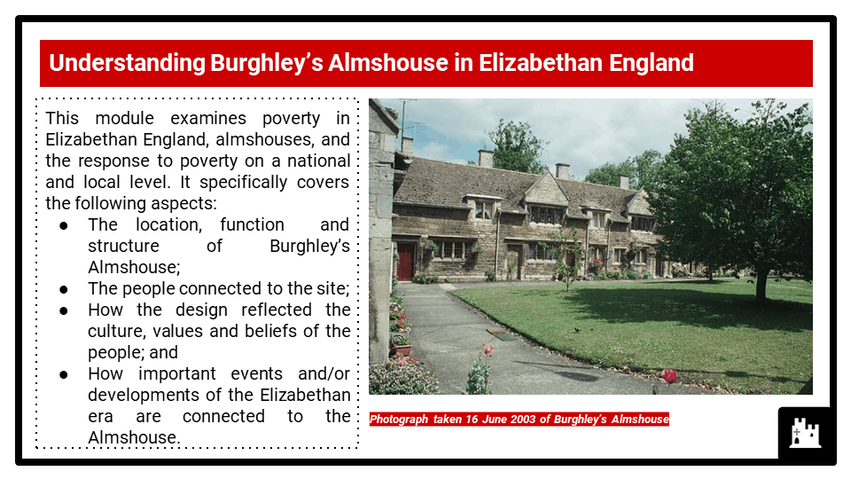 2B_BC Historic Environment 2021-22 Burghleys Almshouse, Stamford, Lincolnshire, Presentation 1