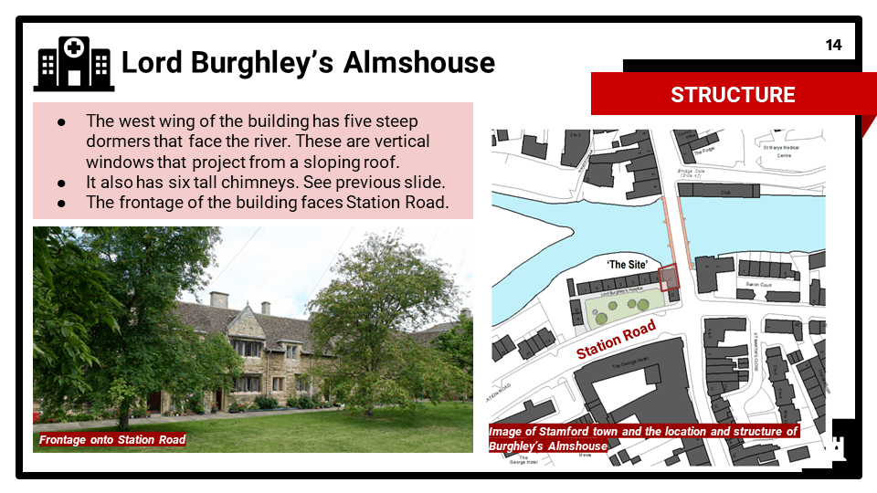 2B_BC Historic Environment 2021-22 Burghleys Almshouse, Stamford, Lincolnshire, Presentation 2