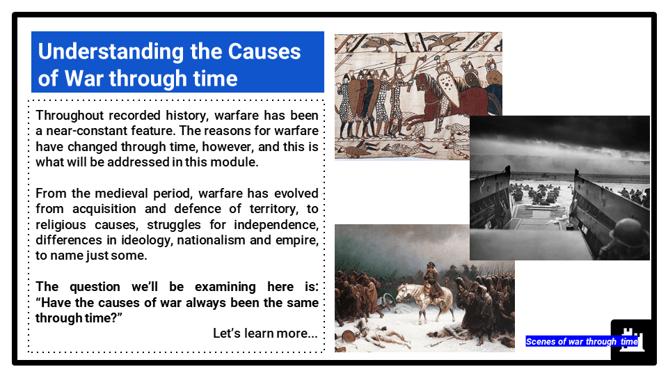 3C_ Causes of war, Presentation
