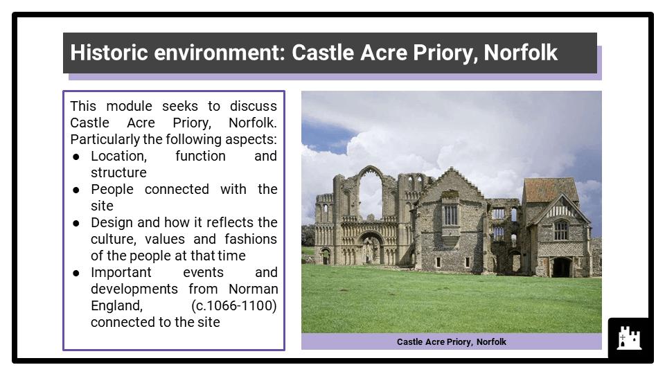 AQA_BA Norman England, c1066-c1100_HE 2022 Castle Acre Priory, Norfolk Presentation 1