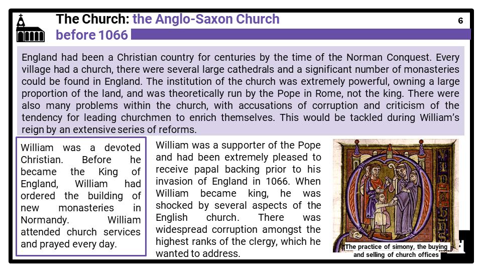 AQA_BA Norman England, c1066-c1100_Part three_ The Norman Church and monasticism Presentation