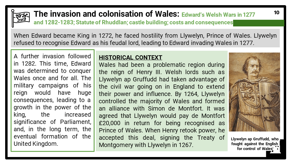 AQA_BB Medieval England - the reign of Edward I, 1272-1307_Part three_ Edward I_s military campaigns in Wales and Scotland Presentation