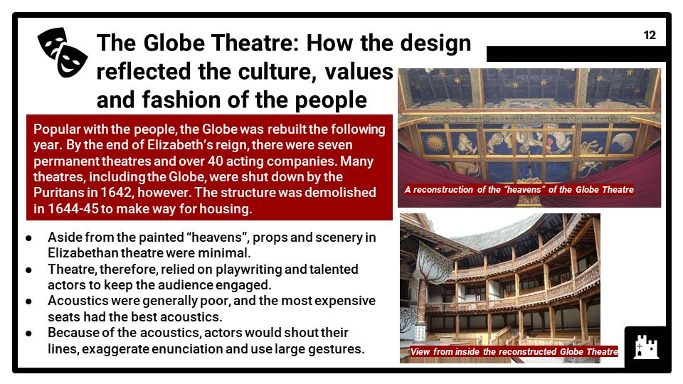 BC Elizabethan England, c1568-1603_ The Globe Theatre, Presentation 1