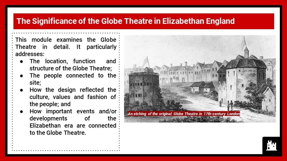 BC Elizabethan England, c1568-1603_ The Globe Theatre, Presentation