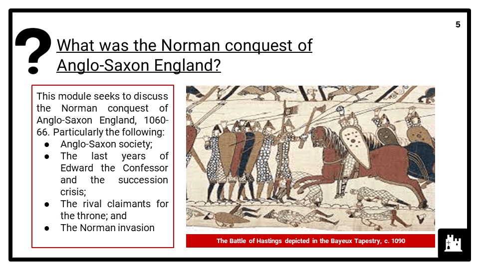 Edexcel P2_B1_1 Anglo-Saxon England and the Norman Conquest, 1060-66