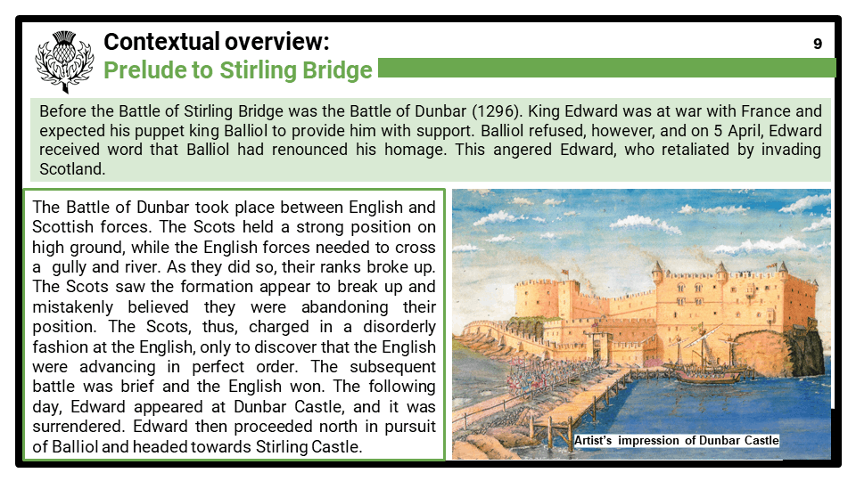 HE 2020_The Battle of Stirling Bridge, 1297 Presentation