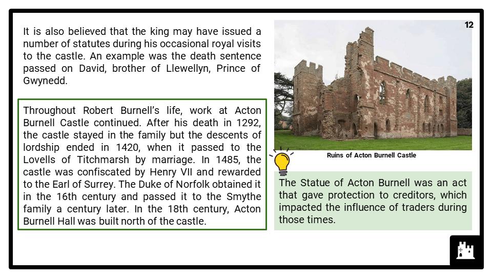 HE_Acton Burnell Castle, Shropshire Presentation