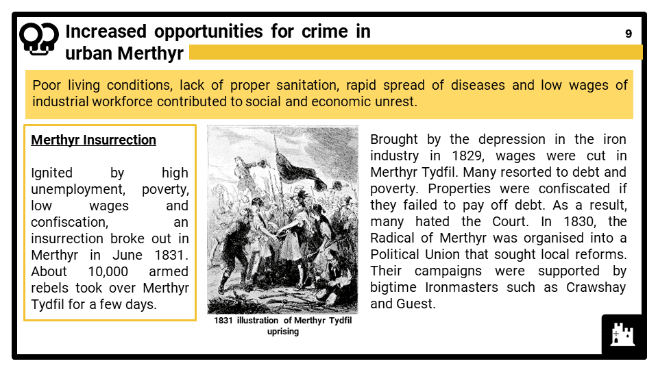 WJEC_3A__China_ the growth of crime in industrial Merthyr in the 19th century Presentation