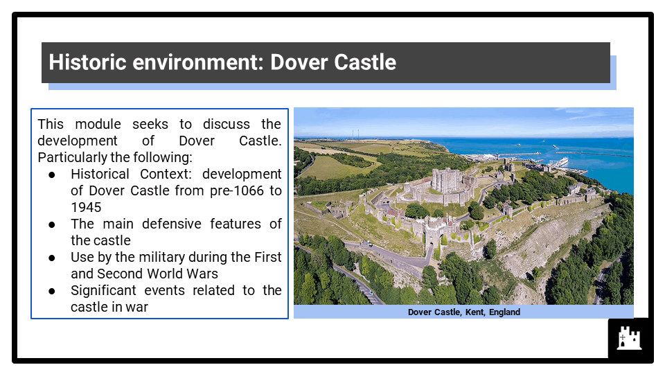 Eduqas_2G_HE 2022-2023_ Dover Castle, 1066-1945 presentation 1
