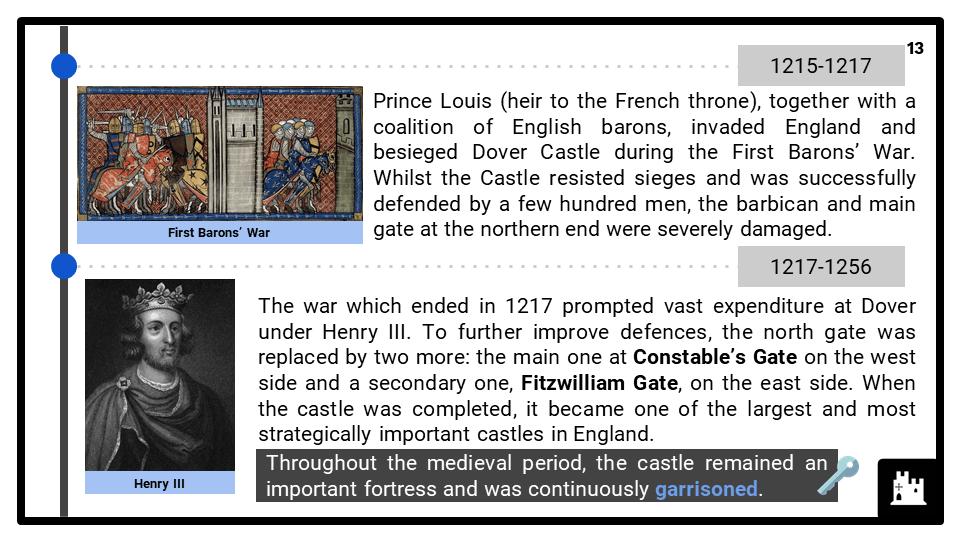 Eduqas_2G_HE 2022-2023_ Dover Castle, 1066-1945 presentation 2