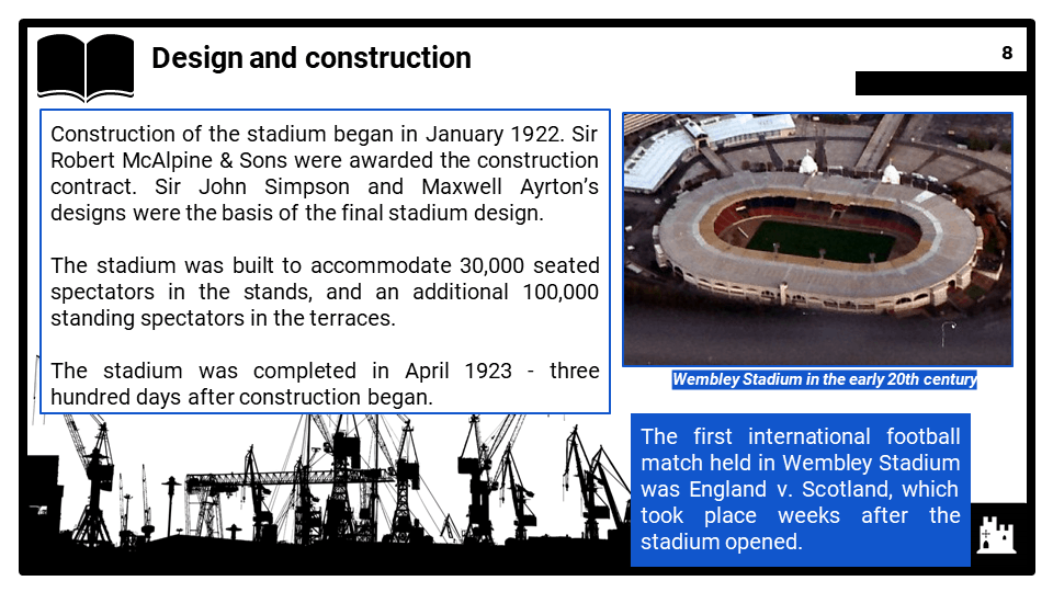 HE 2020-2021 The development of Wembley Stadium in the twentieth century, Presentation 1