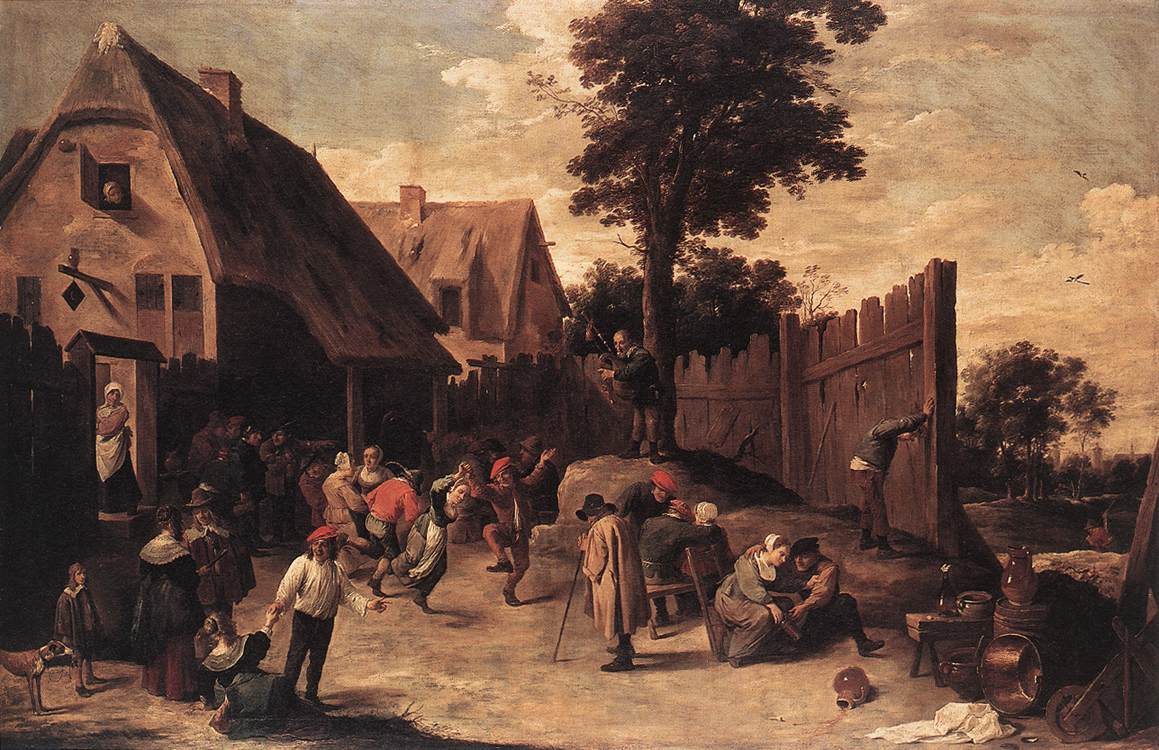c.1542 Sebald Beham - A peasant woman at market; WL figure ...  |16th Century Peasant Life