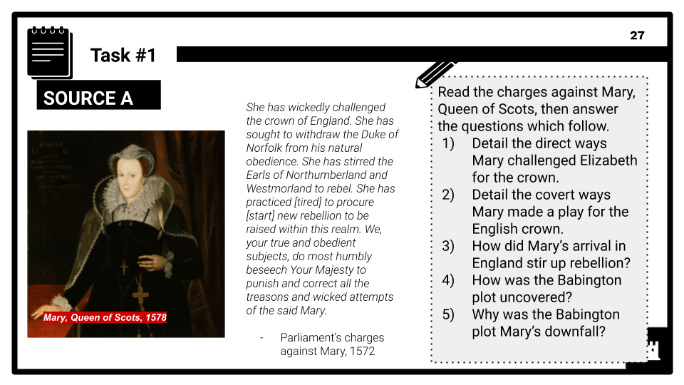 Key topic 2_ Challenges to Elizabeth at home and abroad, 1569-88