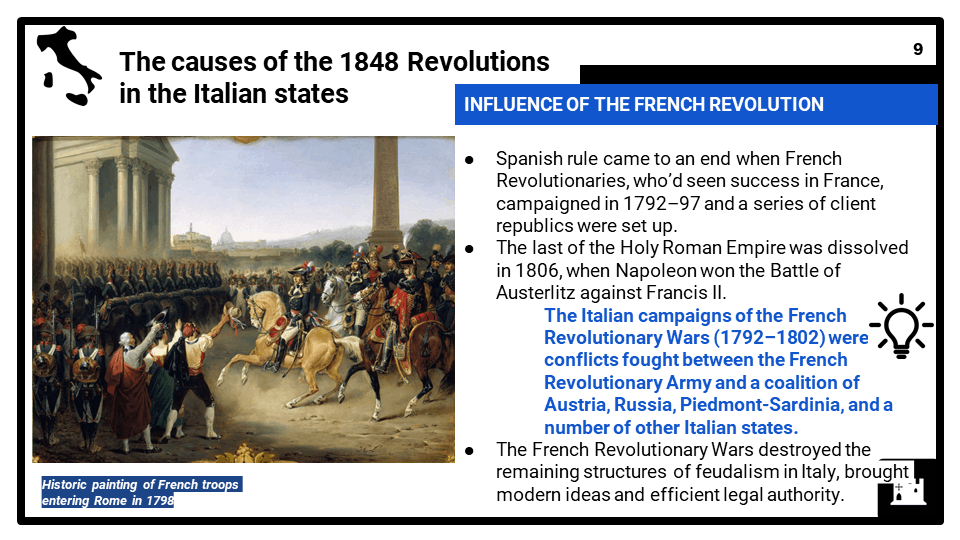1_2 Development of a nation_ Unification of Italy, 1848-70, Part 1, Presentation