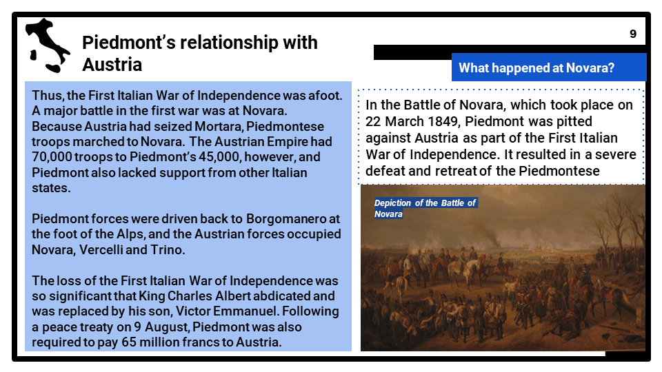 1_2 Development of a nation_ Unification of Italy, 1848-70, Part 3, Presentation