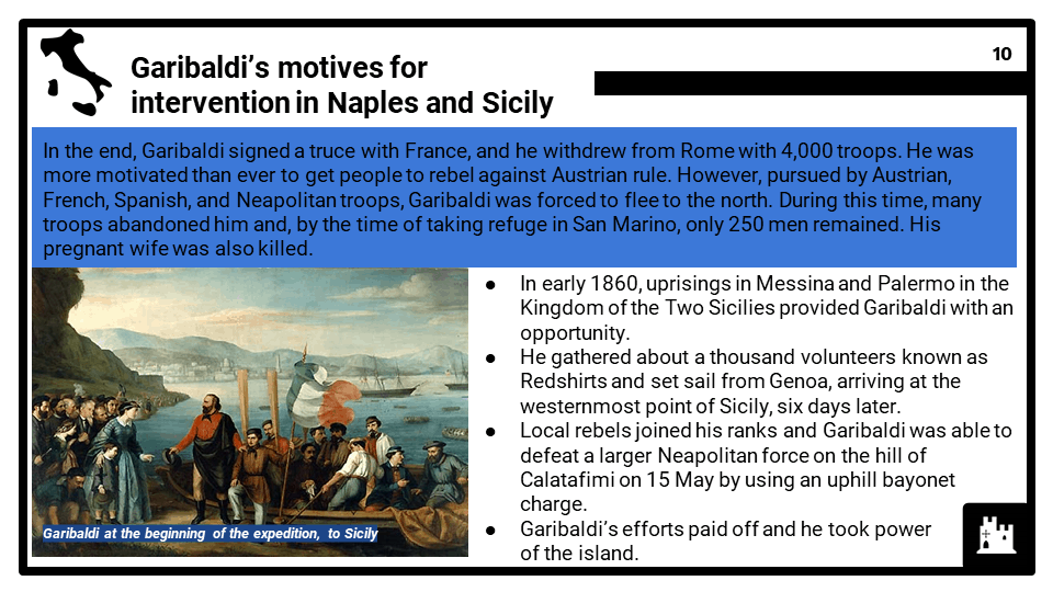 1_2 Development of a nation_ Unification of Italy, 1848-70, Part 4, Presentation