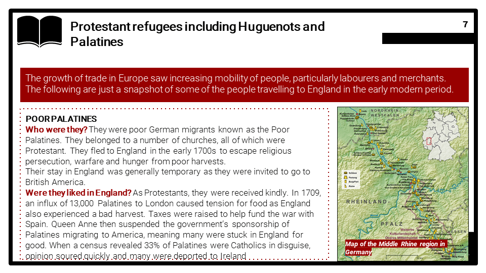 Early Modern Britain c.1500-c.1750, Migrants to Britain Presentation