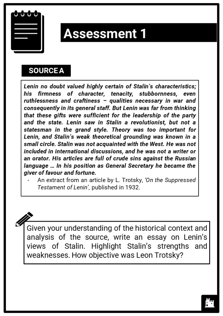 Edexcel Int P1_5 Dictatorship and conflict in the USSR, 1924-53_Part 1 Assessment