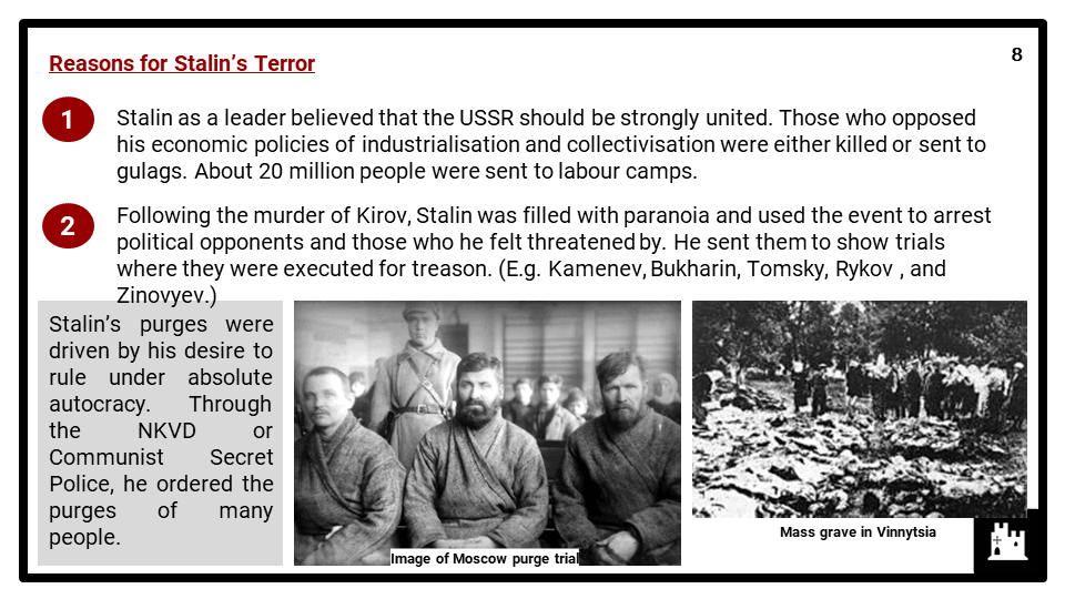 Edexcel Int P1_5 Dictatorship and conflict in the USSR, 1924-53_Part 3 Presentation