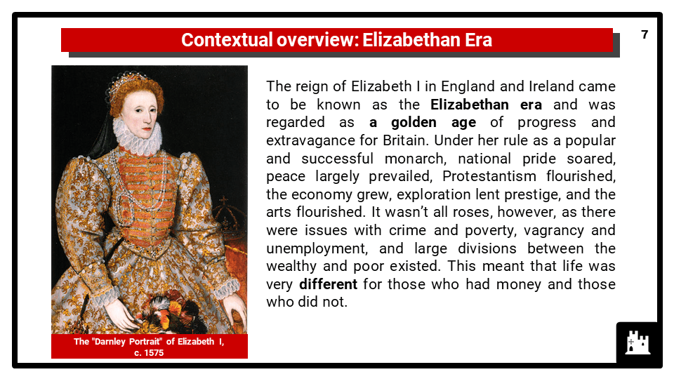 OCR B The Elizabethans, 1580-1603_3 Daily lives