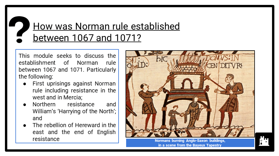 OCR B The Norman conquest, 1065-1087_3 Resistance and response