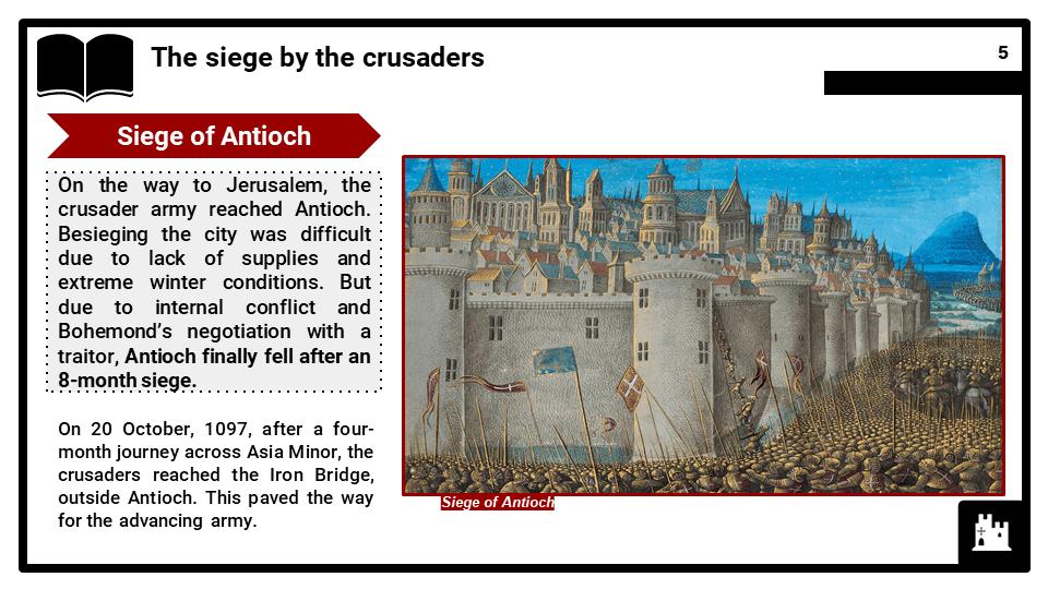 OCR B_Antioch October 1097 to June 1098, The First Crusade, Presentation