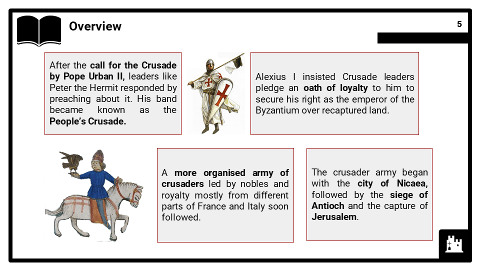 OCR B_Into Asia Minor December 1096 to October 1097, The First Crusade, Presentation