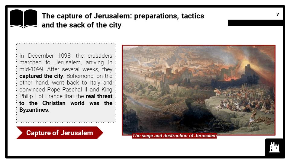 OCR B_Jerusalem July 1098 to July 1100, The First Crusade, Presentation