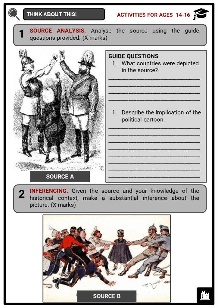 Alliances as a cause of World War I Student Activities & Answer Guide 3