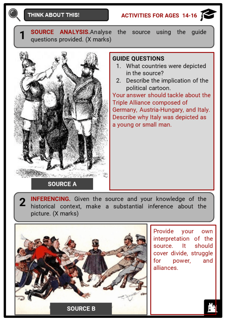 Alliances as a cause of World War I Student Activities & Answer Guide 4