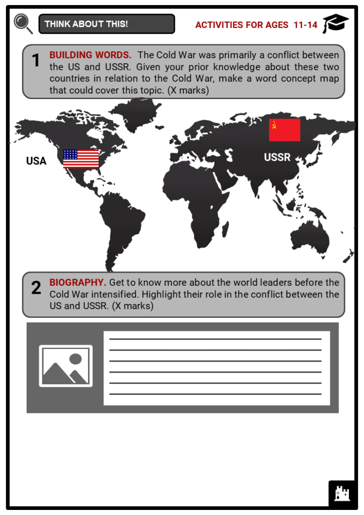Causes of the Cold War Student Activities & Answer Guide 1