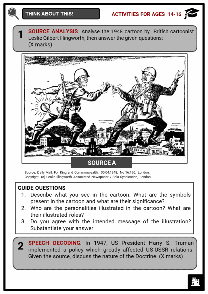 Causes of the Cold War Student Activities & Answer Guide 3