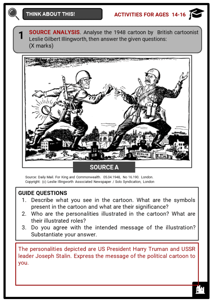 Causes of the Cold War Student Activities & Answer Guide 4