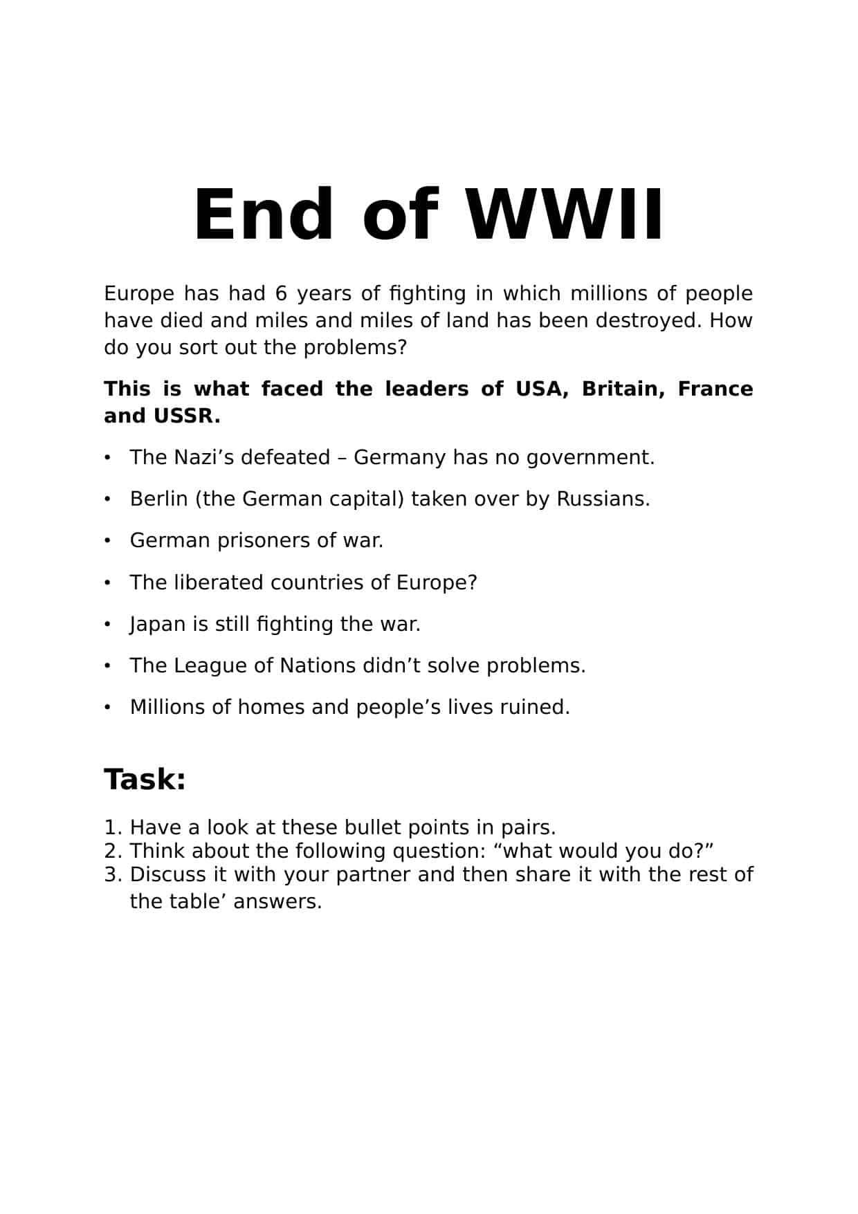 World War 2 WW2 Worksheets   KS3 & KS4 Lesson Plans ...