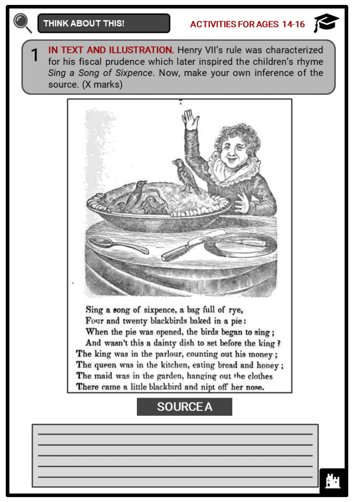 Henry VII of England Student Activities & Answer Guide 3