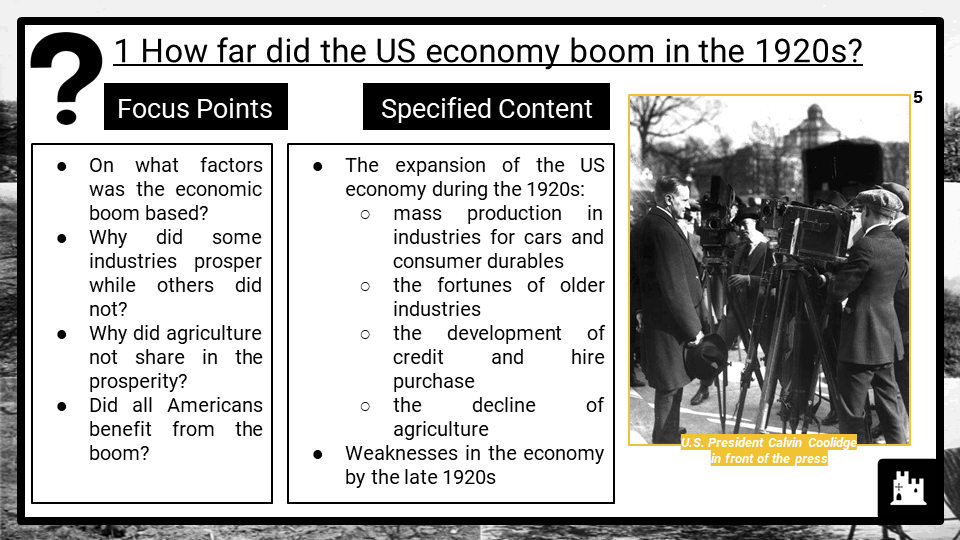 The USA, 1918–41 Edexcel IGCSE Resources