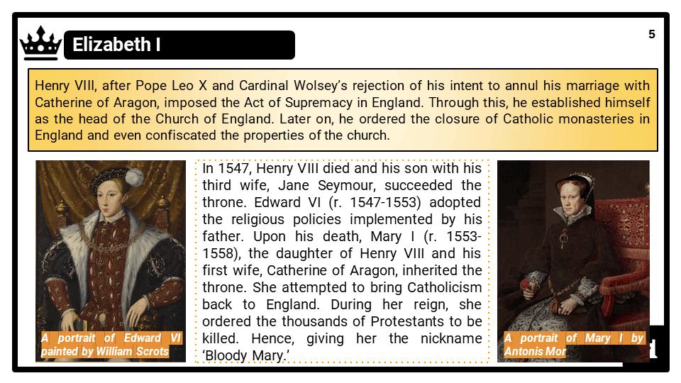 Elizabethan religious settlement & Catholic conflict KS3 Teaching Resources