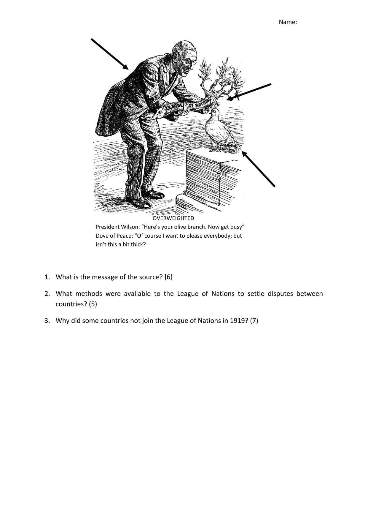 League Of Nations Igcse Source Homework Task