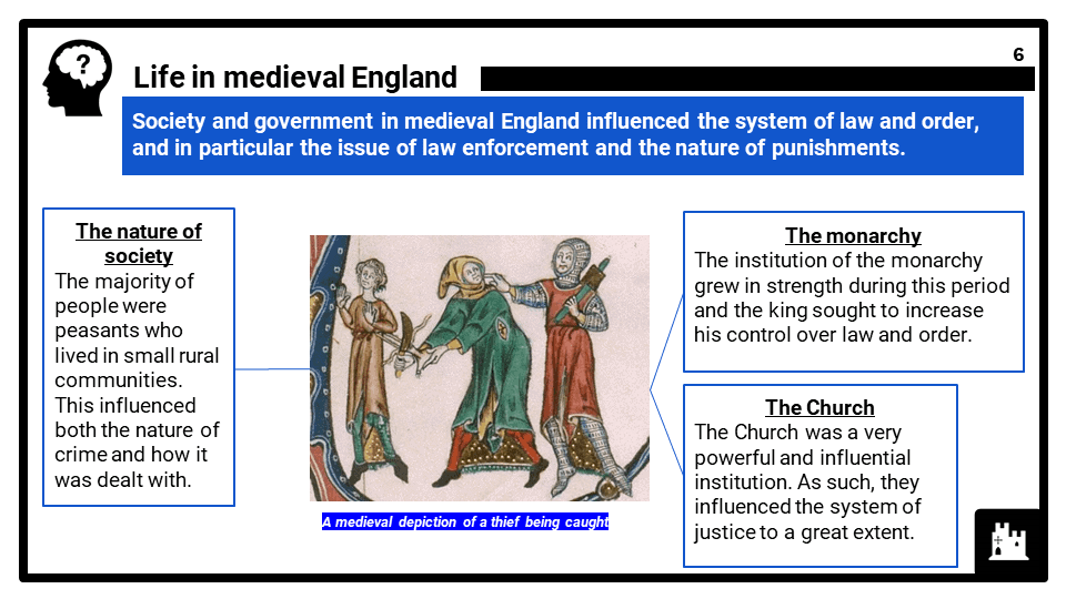 Crime and Punishment, c.1250 to present OCR B GCSE History 9-1 Lesson Resources